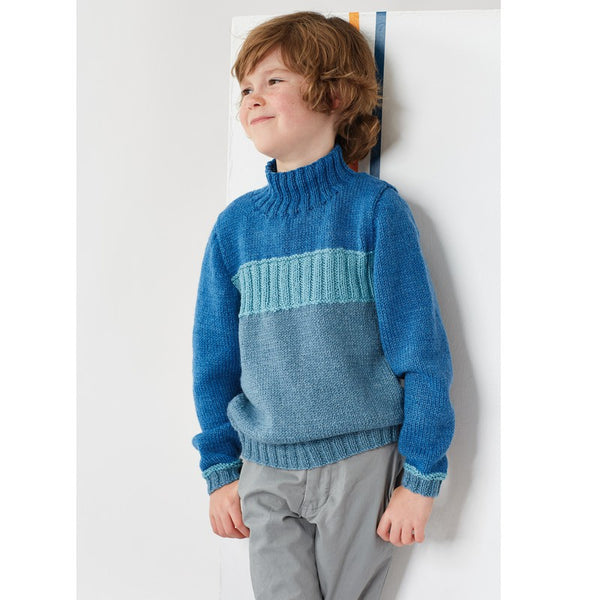 Rowan Pattern Linus, Child Jumper By Sarah Hatton