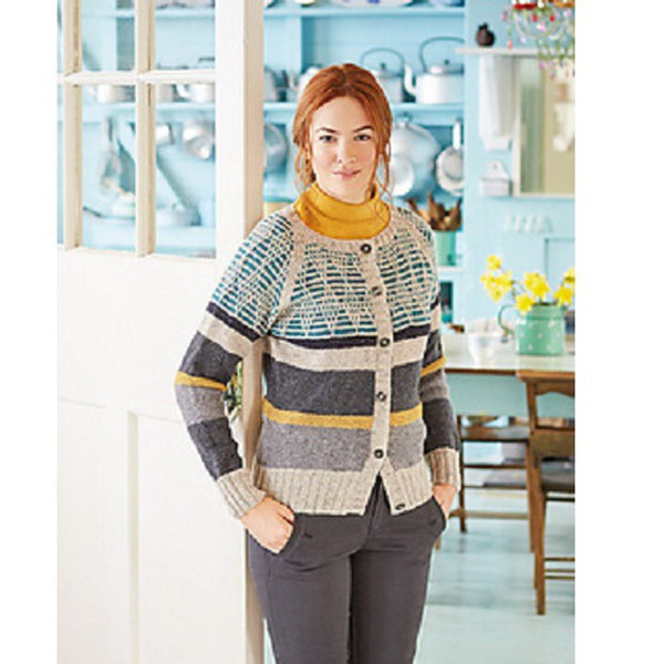 Rowan Pattern Gaudi Ladies Cardigan By Martin Storey