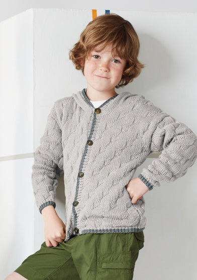 Rowan Pattern Lex, Child Cardigan By Lisa Richardson