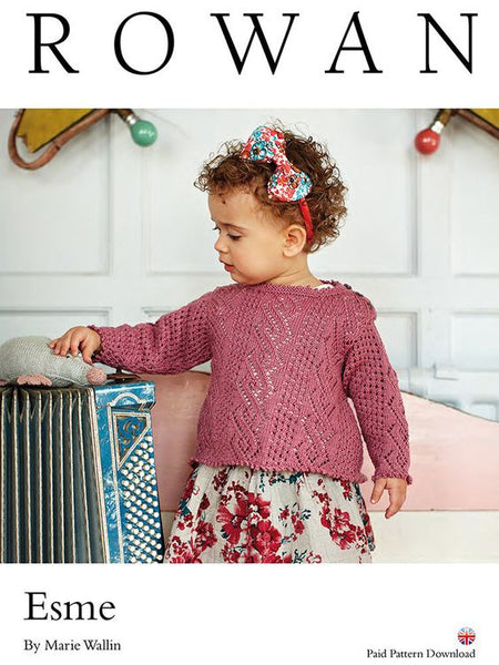 Rowan Pattern Esme, Child Sweater By Marie Wallin