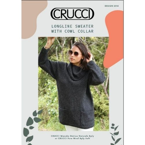 Crucci Longline Sweater with Collar, Design 2014