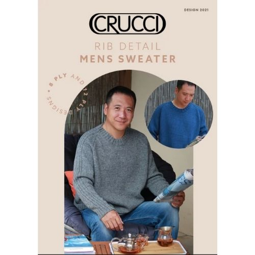 Crucci, Rib Detail Mens Sweater, Design 2021