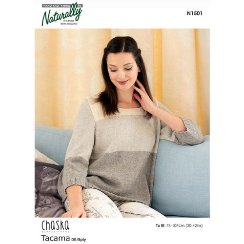 Chaska, Fine 8 ply, Women's Sweater Pattern, N1501