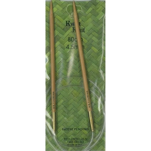 Kwik Knit Bamboo Circular Needle 4.50mm