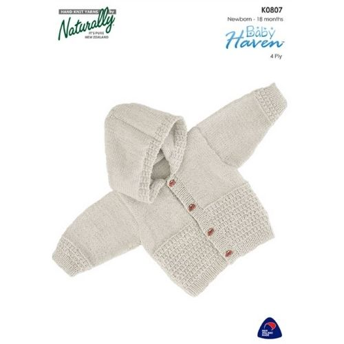 Naturally Baby Haven, 4 ply, Kids Jacket Pattern, K0807
