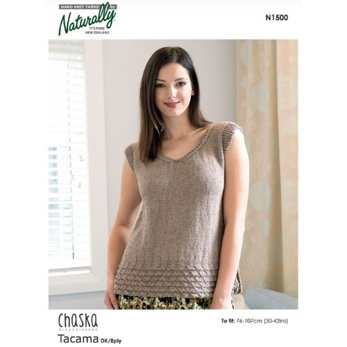 Chaska, Fine 8 ply, Womens Top Pattern, N1500