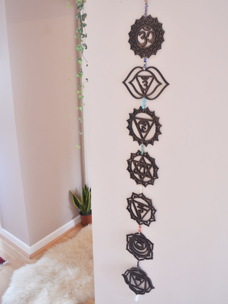 Chakra Gemstone Wall Art, Chakra Stones - coppermoonboutique