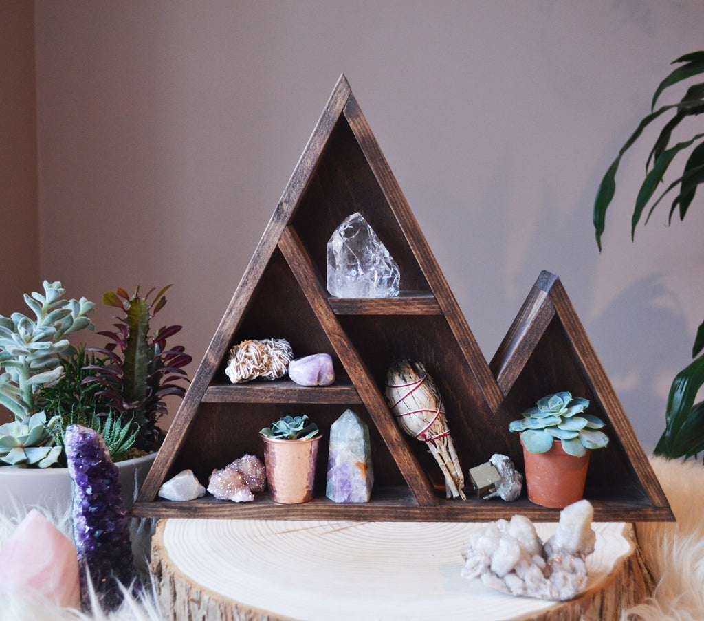 Triangle Crystal Shelf - coppermoonboutique