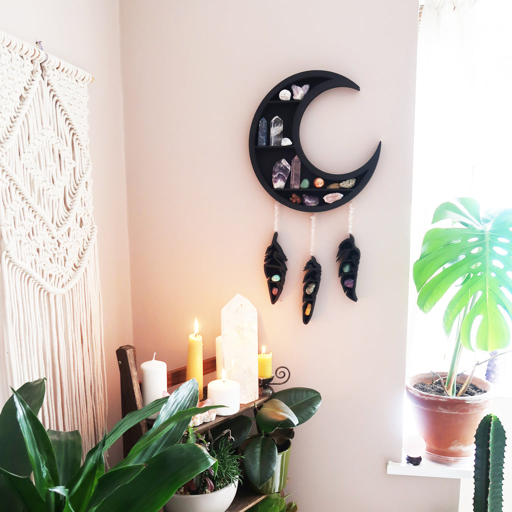 Dreamcatcher moon shelf - coppermoonboutique