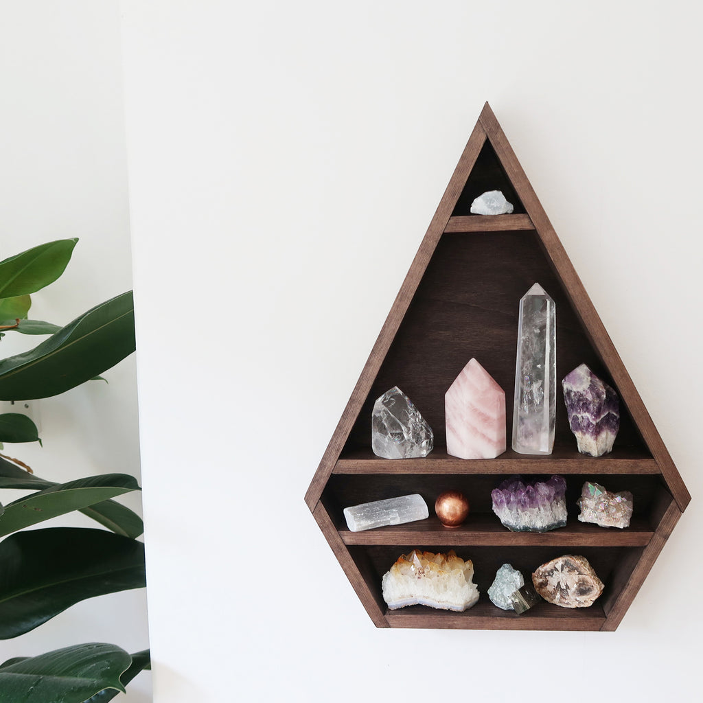 Diamond Crystal Display Shelf - coppermoonboutique