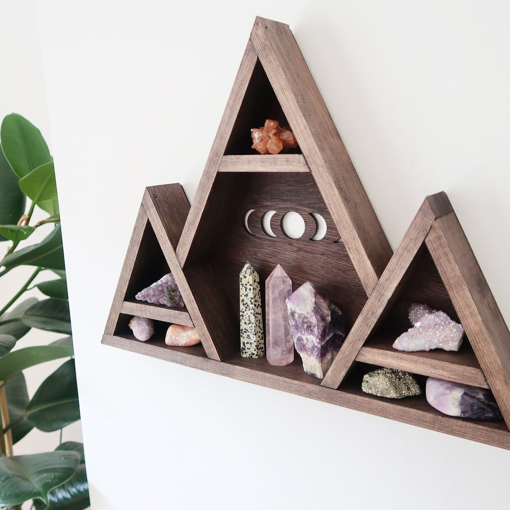 Moonphase Mountain Crystal Shelf - coppermoonboutique