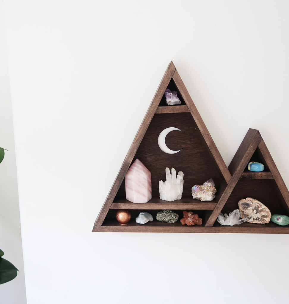 Triangle Moon Crystal Shelf - coppermoonboutique