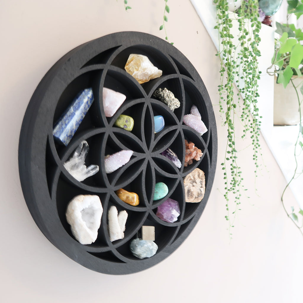 Seed Of Life Crystal Shelf - coppermoonboutique