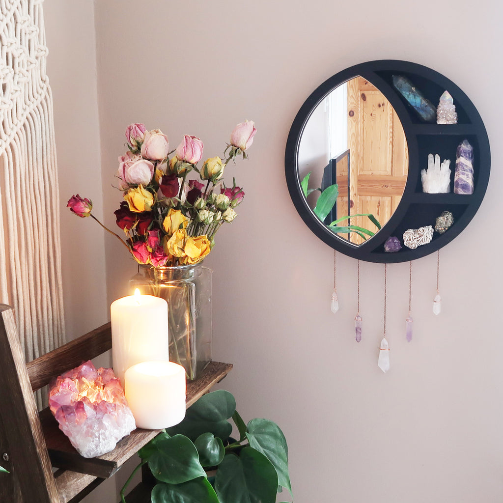 Mirror Moon Crystal Shelf - coppermoonboutique