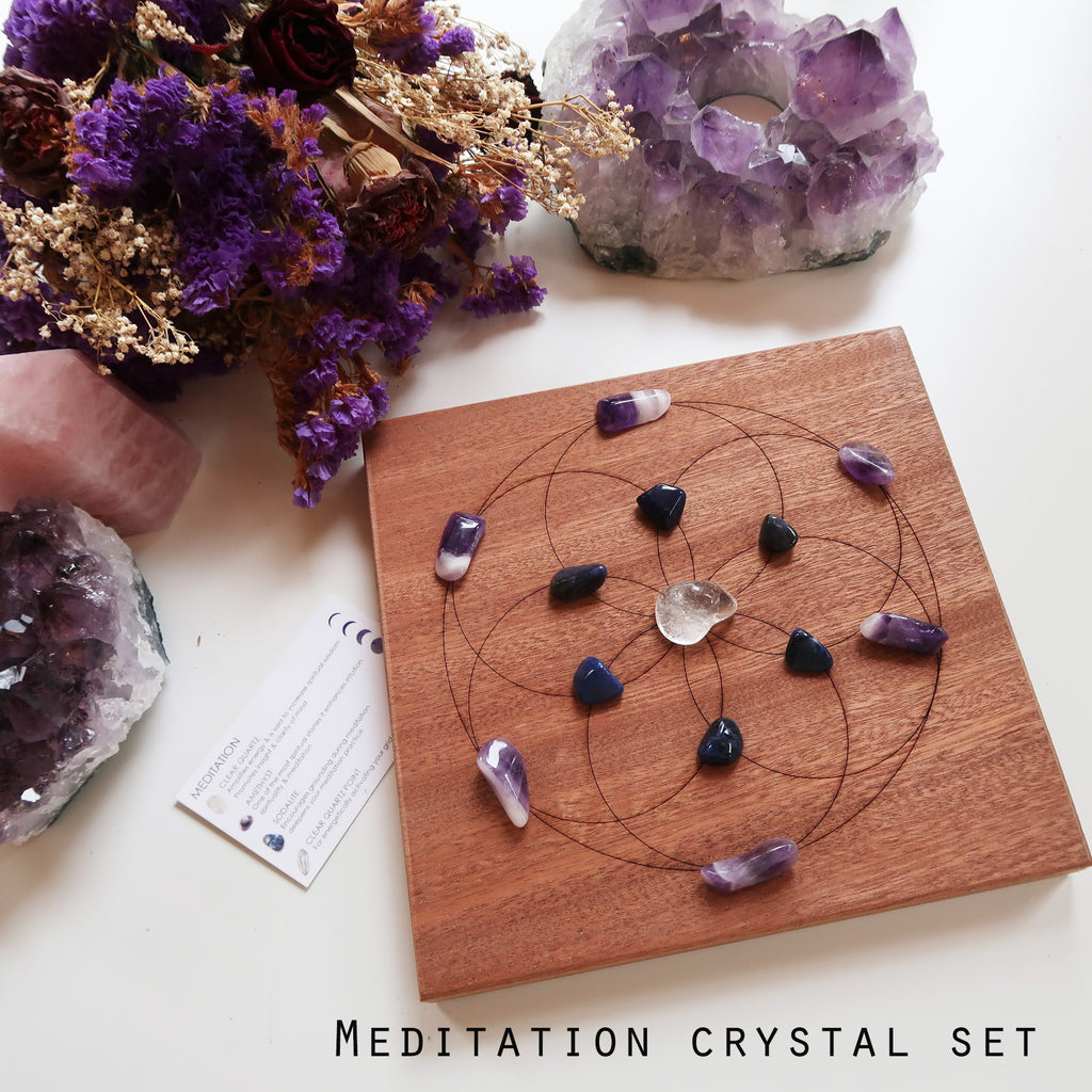 Seed Of Life Crystal Grid - coppermoonboutique