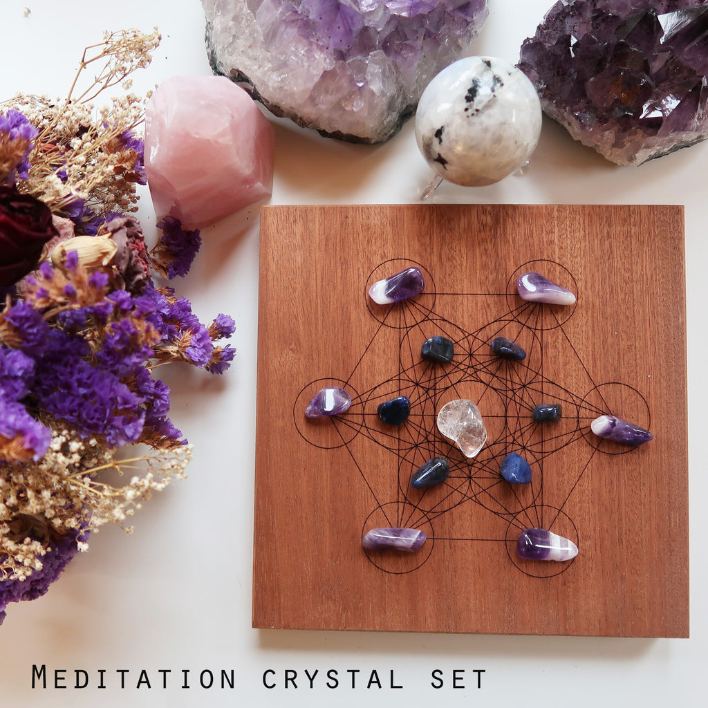 Metatrons Cube Crystal Grid - coppermoonboutique