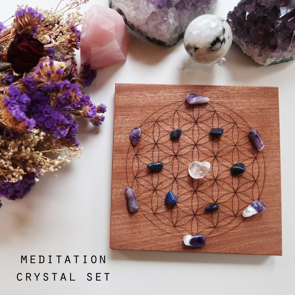 Flower Of Life Crystal Grid - coppermoonboutique
