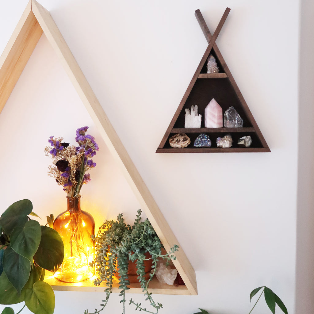 Tee Pee Triangle Crystal Shelf - coppermoonboutique