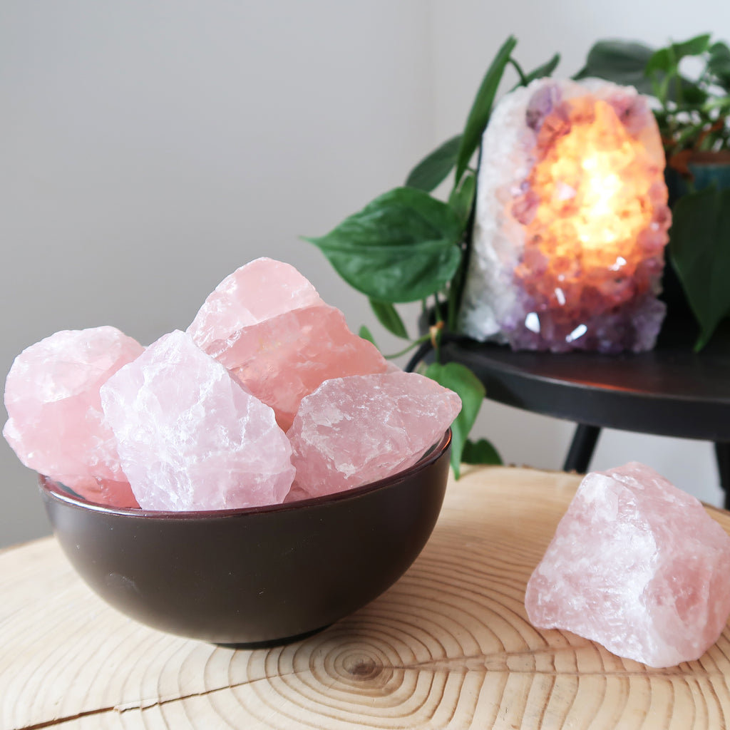 Raw Rose Quartz Chunk - coppermoonboutique