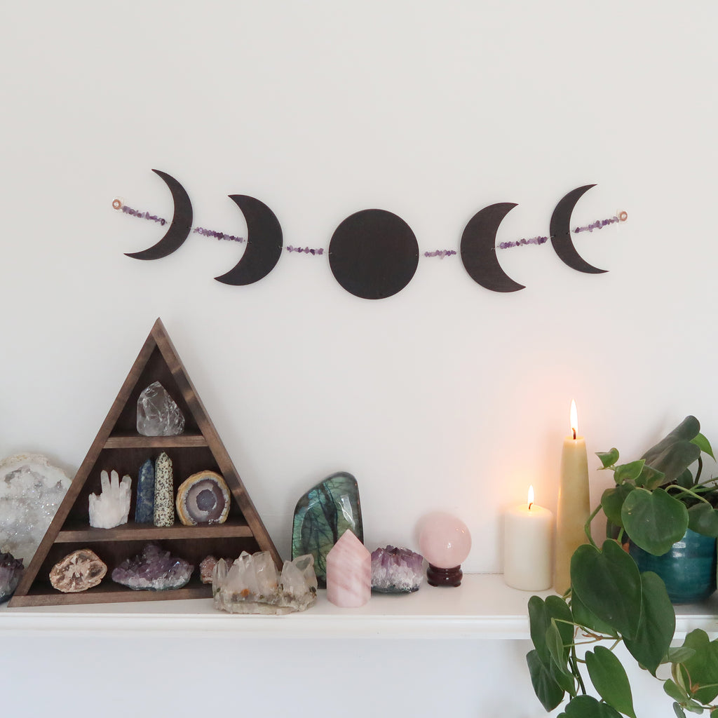 Horizontal Crystal Moonphase Wall Art - coppermoonboutique