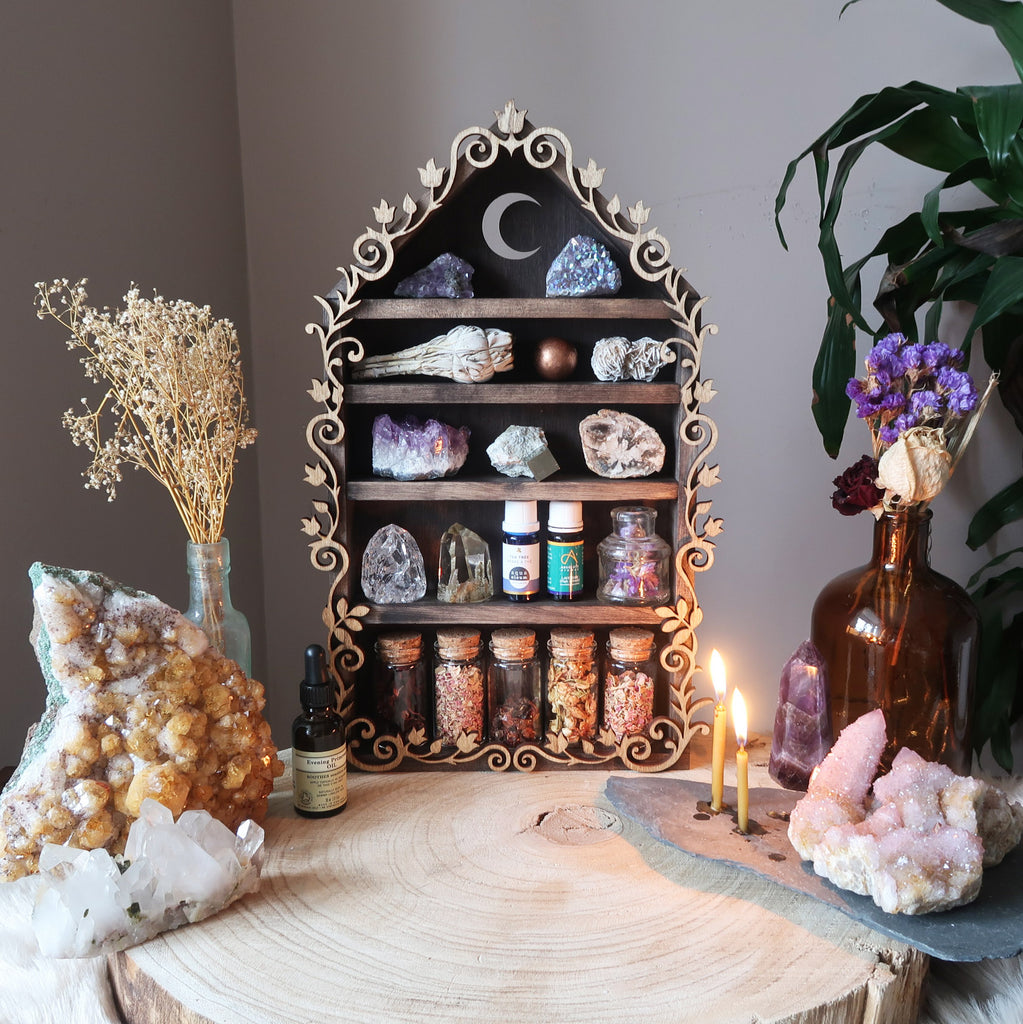 Crescent Moon Botanical Apothecary Shelf - coppermoonboutique