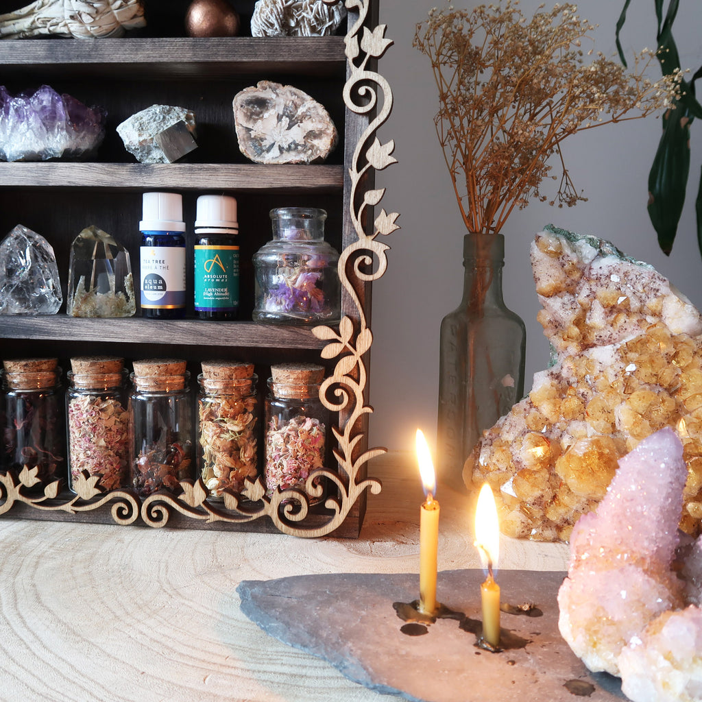 Pentagram Botanical Apothecary Shelf - coppermoonboutique