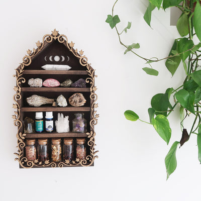 Moonphase Botanical Apothecary Shelf - coppermoonboutique