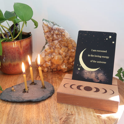 Mini Moonphase Altar Card Stand - coppermoonboutique