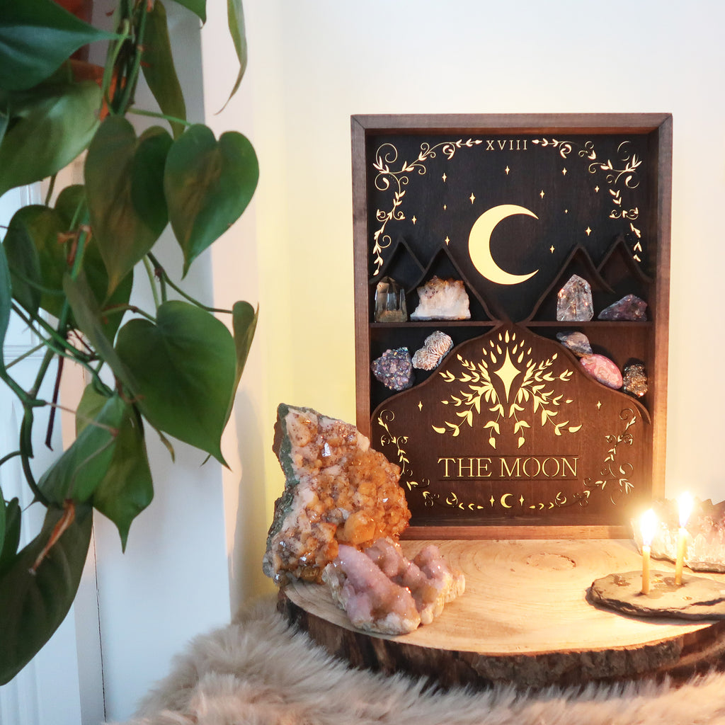 Tarot Card Wooden Light Up Shelf - coppermoonboutique