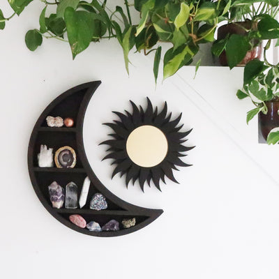 Wooden Sun Mirror - coppermoonboutique