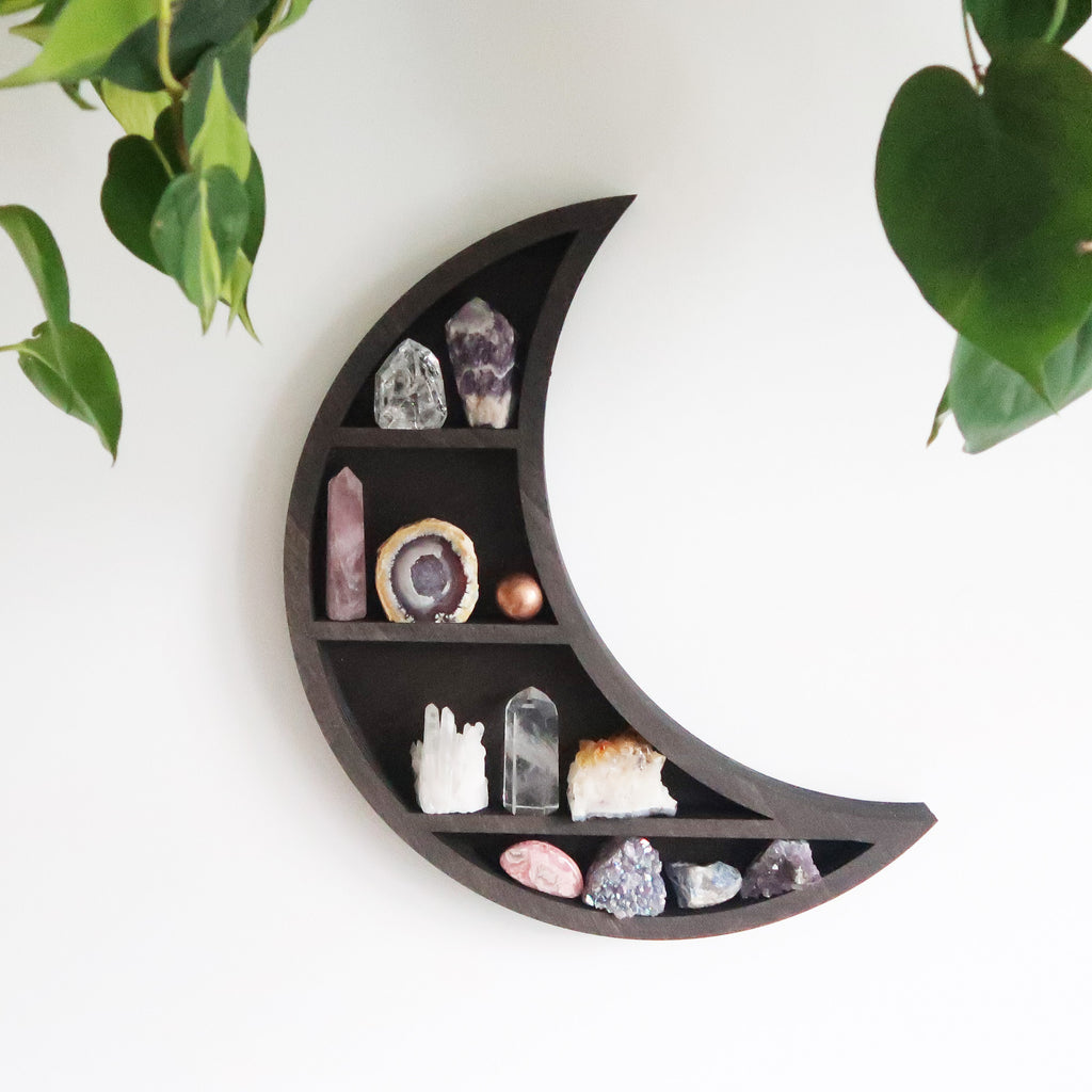 Dreamy Moon Wooden Shelf - coppermoonboutique