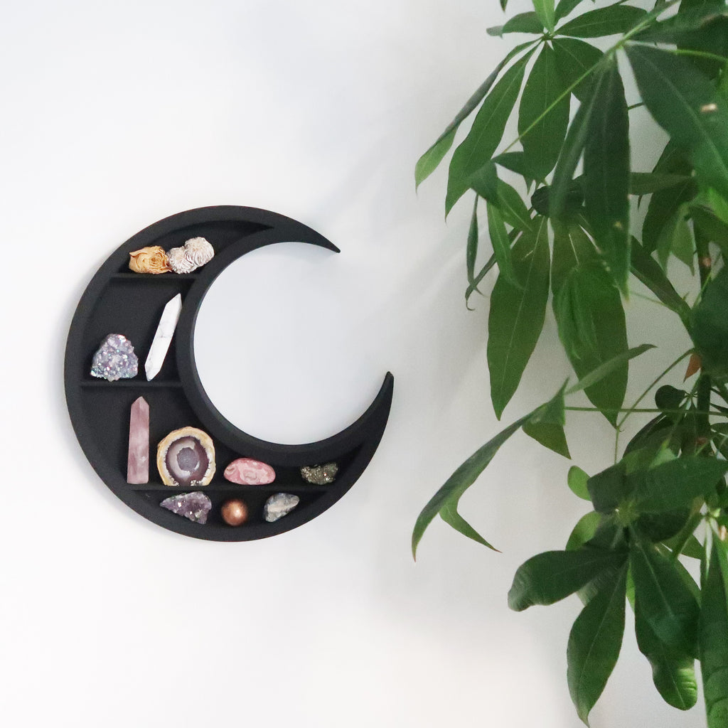Witchy Moon Wooden Shelf - coppermoonboutique