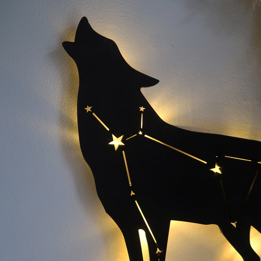 Lupus Constellation Light Up Wolf - coppermoonboutique