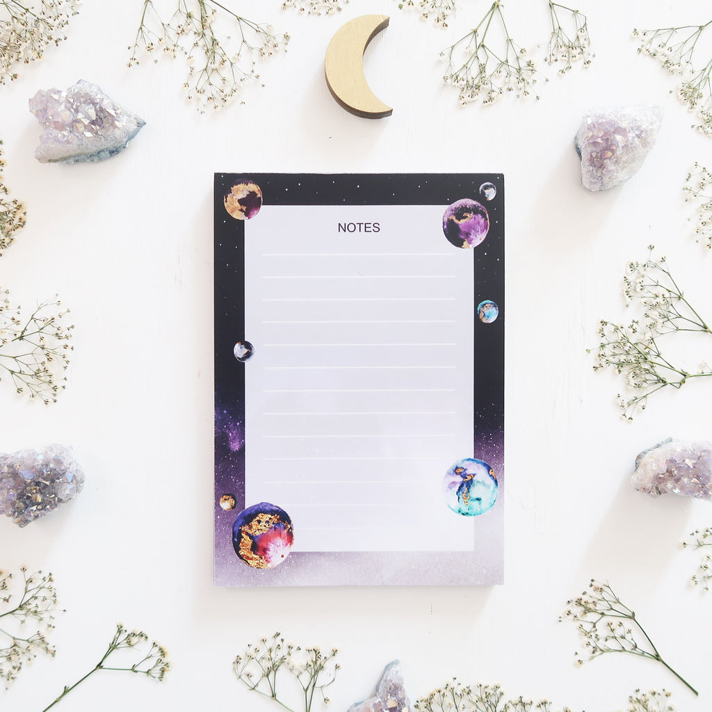 A5 Planets Notepad - coppermoonboutique