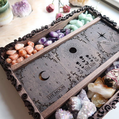 Major Arcana Tarot Crystal Storage  Box - coppermoonboutique