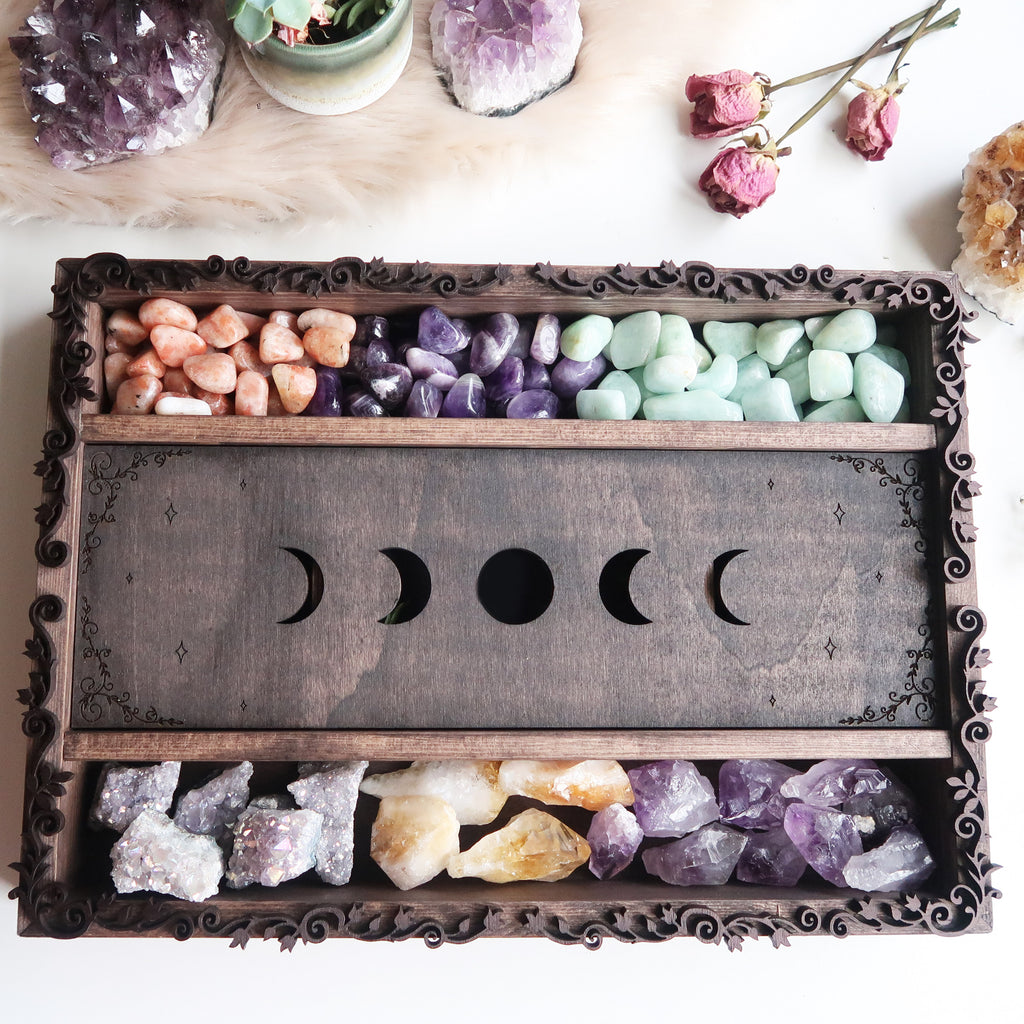 Moonphase Tarot Crystal Storage  Box