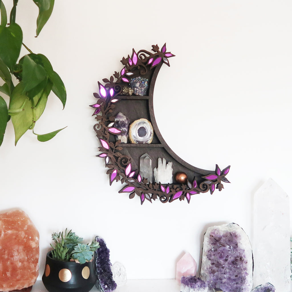 Botanical Mirror Shelf- Choose your colour - coppermoonboutique
