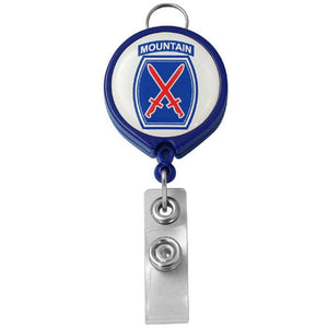 10th Mountain Division Retractable Badge Holder