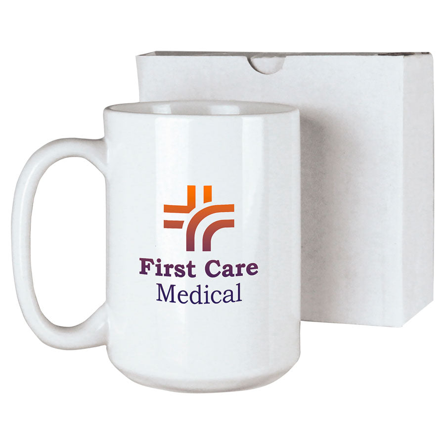 15oz White Custom Coffee Mug