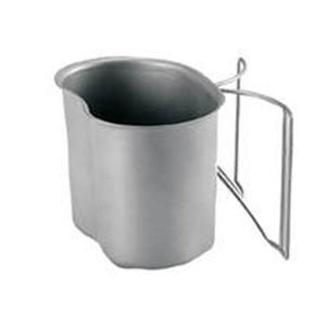 1QT Steel Water Canteen Cup with Folding Handle