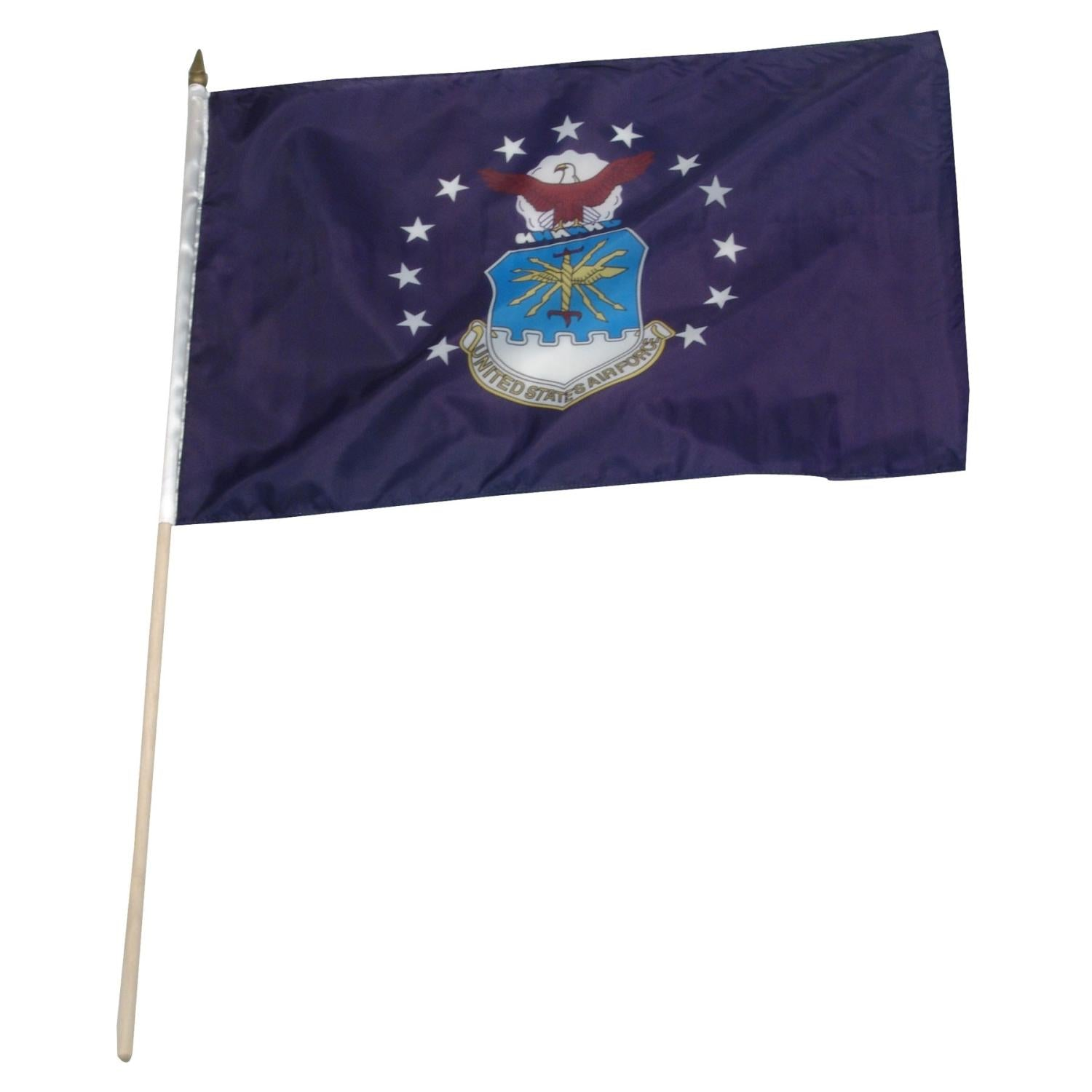 "Air Force Flag 12""x18"" on 24"" Wooden Stick"