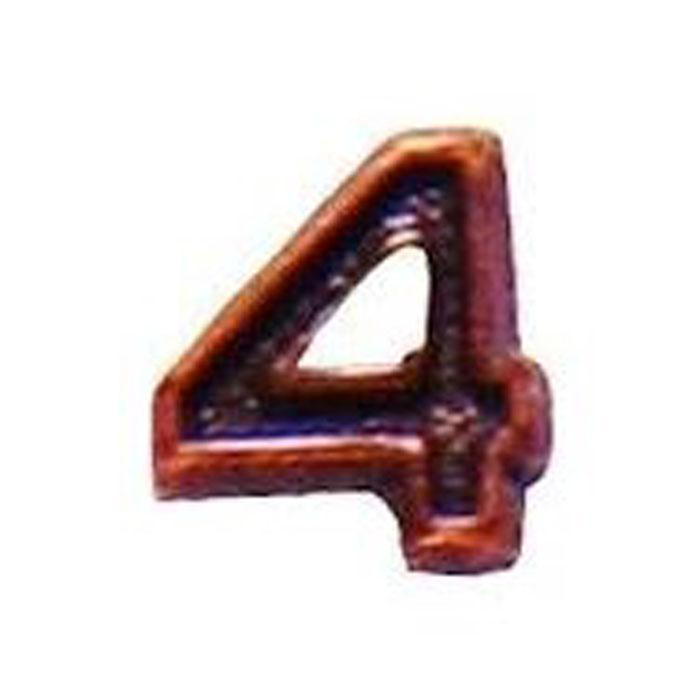 Army Bronze Numeral 4 - 3/16""