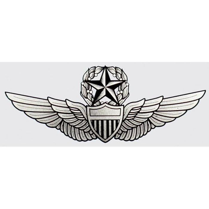 Army Master Aviator Wings Decal 1/2""