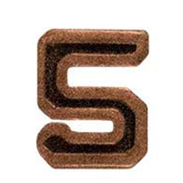 Army Bronze Numeral 5 - 3/16""