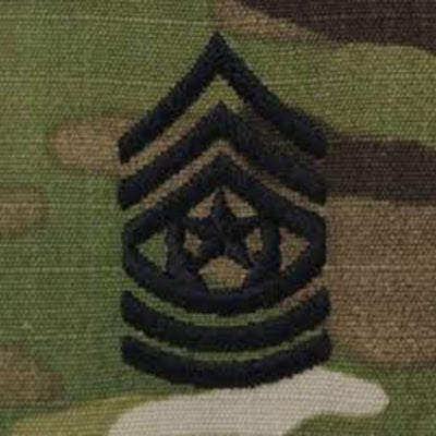 Army Patrol Cap Sew On Rank OCP CSM