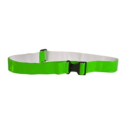 Neon Green Reflective Vinyl Belt with Buckle