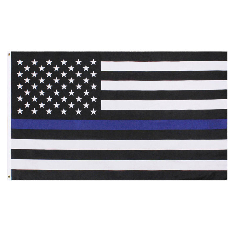 3'x5' Thin Blue Line Flag Printed Polyester