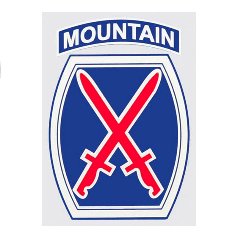 "10th Mountain Division Decal 3.25""x4.25"""