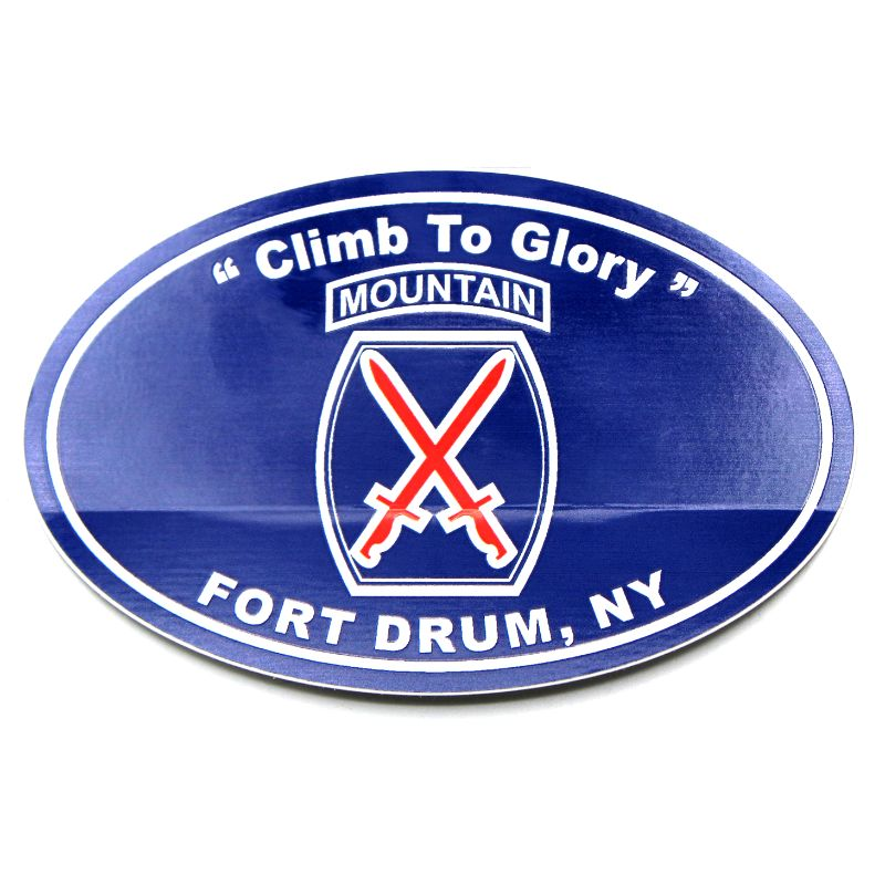 "10th Mountain Division Euro Style Decal 4.5""x3"""