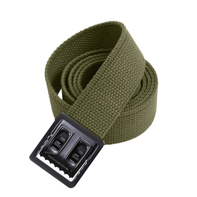 Black Web Belts with Open Face Buckle Olive Drab